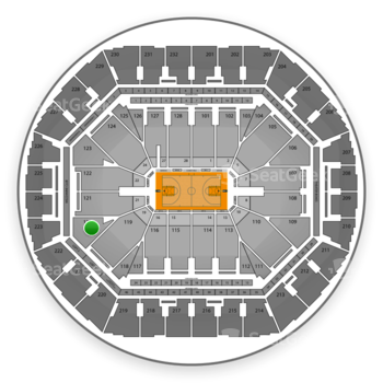 Golden State Warriors at Oracle Arena Section 120 View