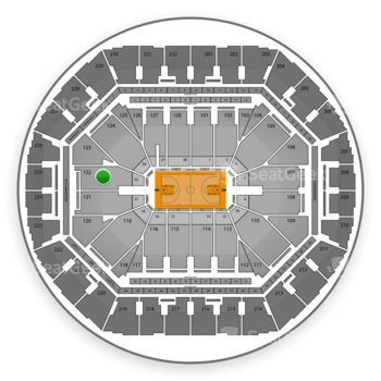 Golden State Warriors at Oracle Arena Section 122 View