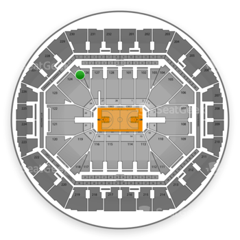 Golden State Warriors at Oracle Arena Section 125 View