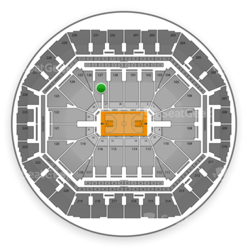 Golden State Warriors at Oracle Arena Section 127 View