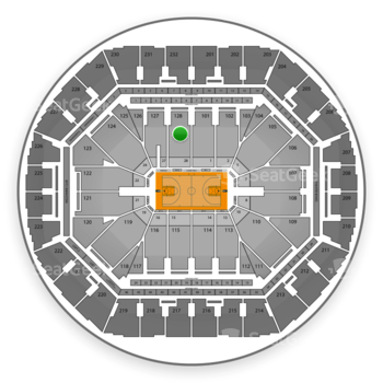 Golden State Warriors at Oracle Arena Section 128 View