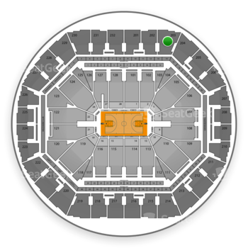 Golden State Warriors at Oracle Arena Section 203 View