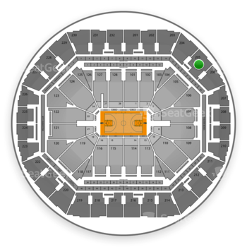 Golden State Warriors at Oracle Arena Section 205 View