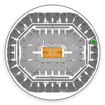 Golden State Warriors at Oracle Arena Section 207 View