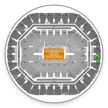 Golden State Warriors at Oracle Arena Section 209 View