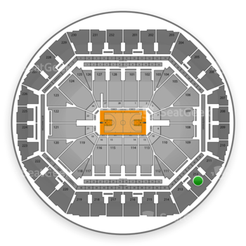 Golden State Warriors at Oracle Arena Section 212 View