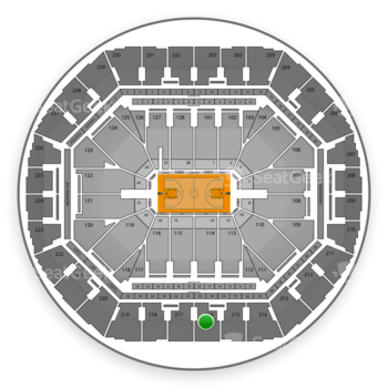 Golden State Warriors at Oracle Arena Section 216 View
