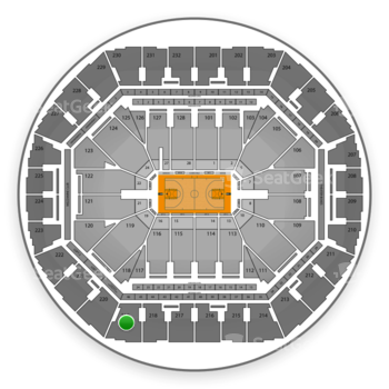 Golden State Warriors at Oracle Arena Section 219 View