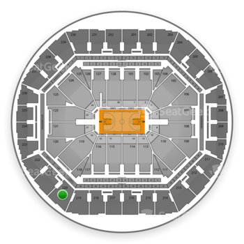Golden State Warriors at Oracle Arena Section 220 View