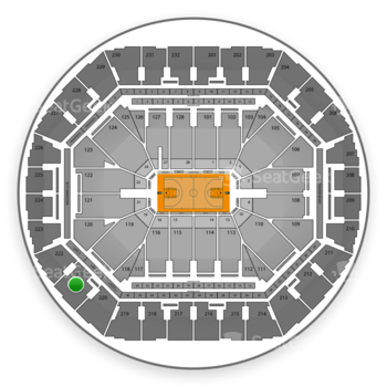 Golden State Warriors at Oracle Arena Section 221 View