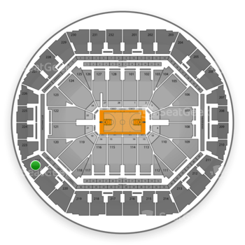 Golden State Warriors at Oracle Arena Section 222 View