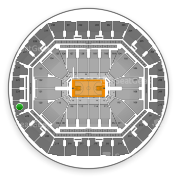 Golden State Warriors at Oracle Arena Section 223 View