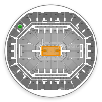 Golden State Warriors at Oracle Arena Section 228 View