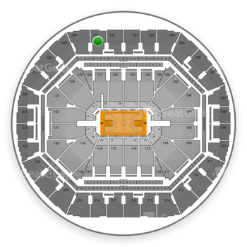 Golden State Warriors at Oracle Arena Section 231 View