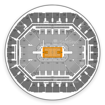 Oracle Arena seating chart Golden State Warriors