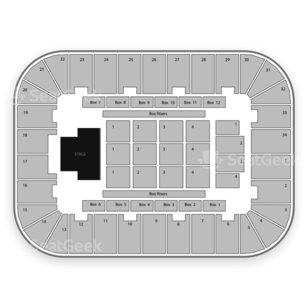 Berglund Center Seating Chart Concert