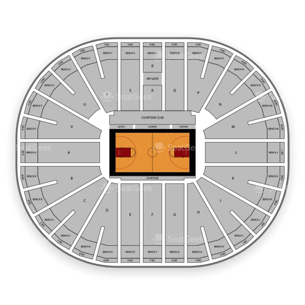 San Diego State Aztecs Basketball Seating Chart