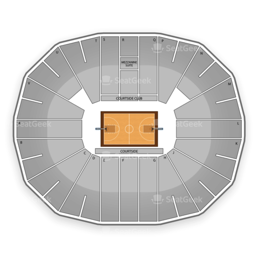 Viejas Arena Seating Chart for NCAA Tournament