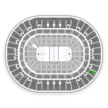 Anaheim Ducks at Honda Center Section 404 View