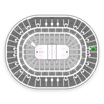 Anaheim Ducks at Honda Center Section 444 View