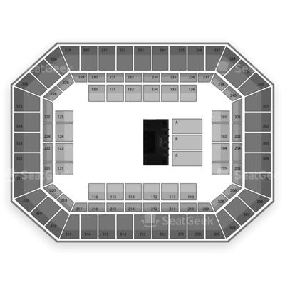 Baton Rouge River Center Arena seating chart Seven Brides for Seven Brothers