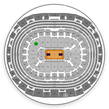 Los Angeles Lakers at Staples Center Section 108 View