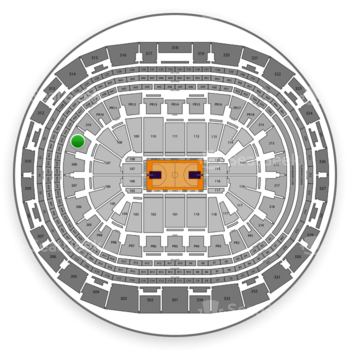 Los Angeles Lakers at Staples Center Section 209 View