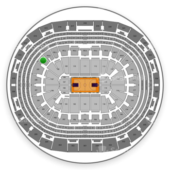 Los Angeles Lakers at Staples Center Section 210 View