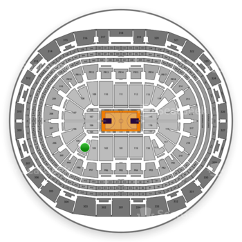 NBA All Star Game at Staples Center Section 104 View