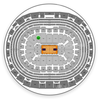 NBA All Star Game at Staples Center Section 109 View
