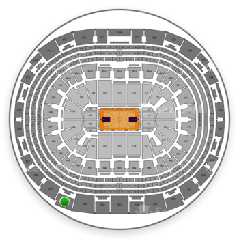 NBA All Star Game at Staples Center Section 304 View