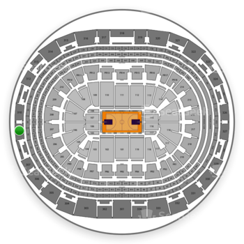 NBA All Star Game at Staples Center Section 309 View