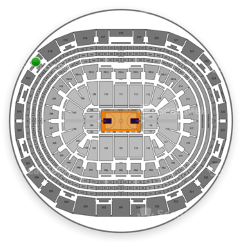 NBA All Star Game at Staples Center Section 313 View