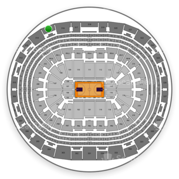NBA All Star Game at Staples Center Section 315 View