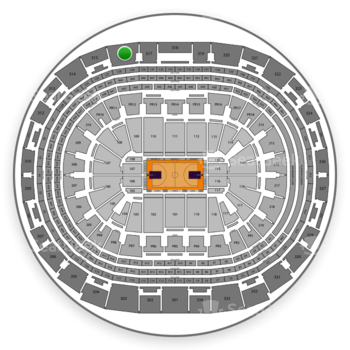 NBA All Star Game at Staples Center Section 316 View