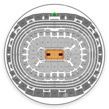 NBA All Star Game at Staples Center Section 318 View