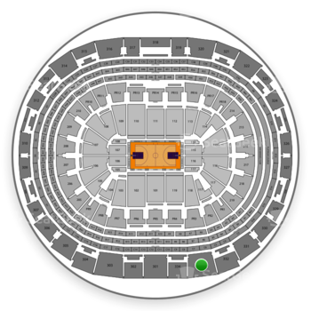 NBA All Star Game at Staples Center Section 333 View