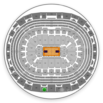 NBA at Staples Center Section 302 View