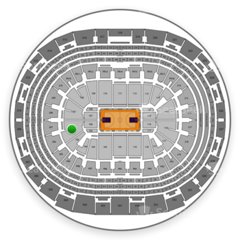Los Angeles Lakers at Staples Center Section 106 View