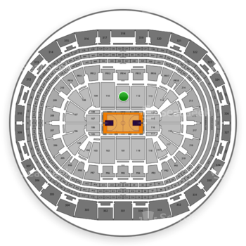 Los Angeles Lakers at Staples Center Section 111 View