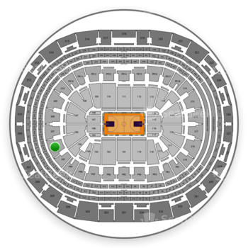 Los Angeles Lakers at Staples Center Section 206 View