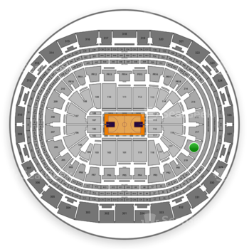 Los Angeles Lakers at Staples Center Section 218 View