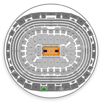 Los Angeles Lakers at Staples Center Section 302 View