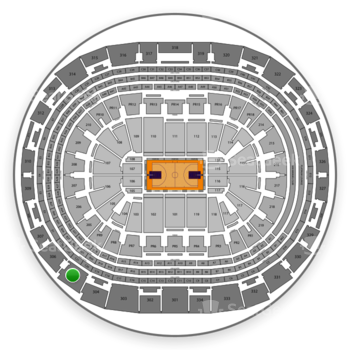 Los Angeles Lakers at Staples Center Section 305 View