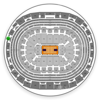 Los Angeles Lakers at Staples Center Section 311 View