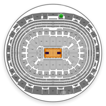 Los Angeles Lakers at Staples Center Section 319 View