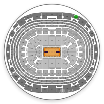 Los Angeles Lakers at Staples Center Section 321 View
