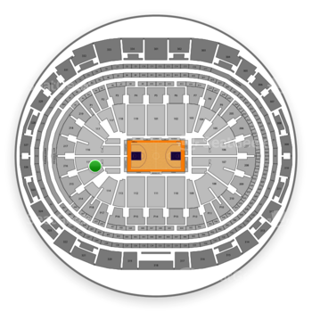Los Angeles Lakers at Staples Center Section 115 View
