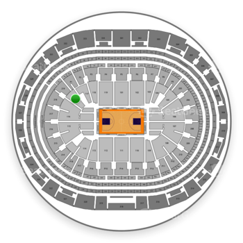 Los Angeles Lakers at Staples Center Section 117 View