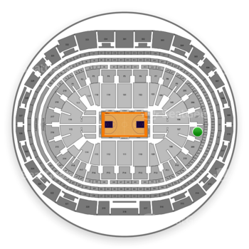 Los Angeles Lakers at Staples Center Section 208 View